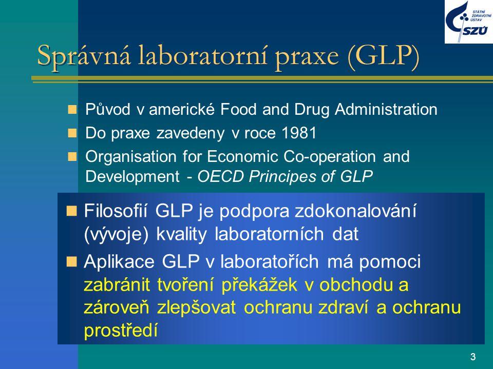 4 Aplikace GLP Měly by být aplikovány na neklinické testování bezpečnosti –farmaceutických výrobků –pesticidů –kosmetiky –veterinárních léčiv –potravinářských a krmivových aditiv –průmyslových chemikálií