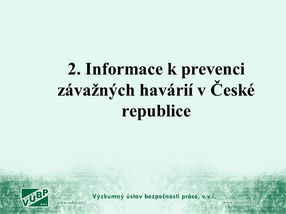 2. Informace k prevenci závažných havárií v České republice