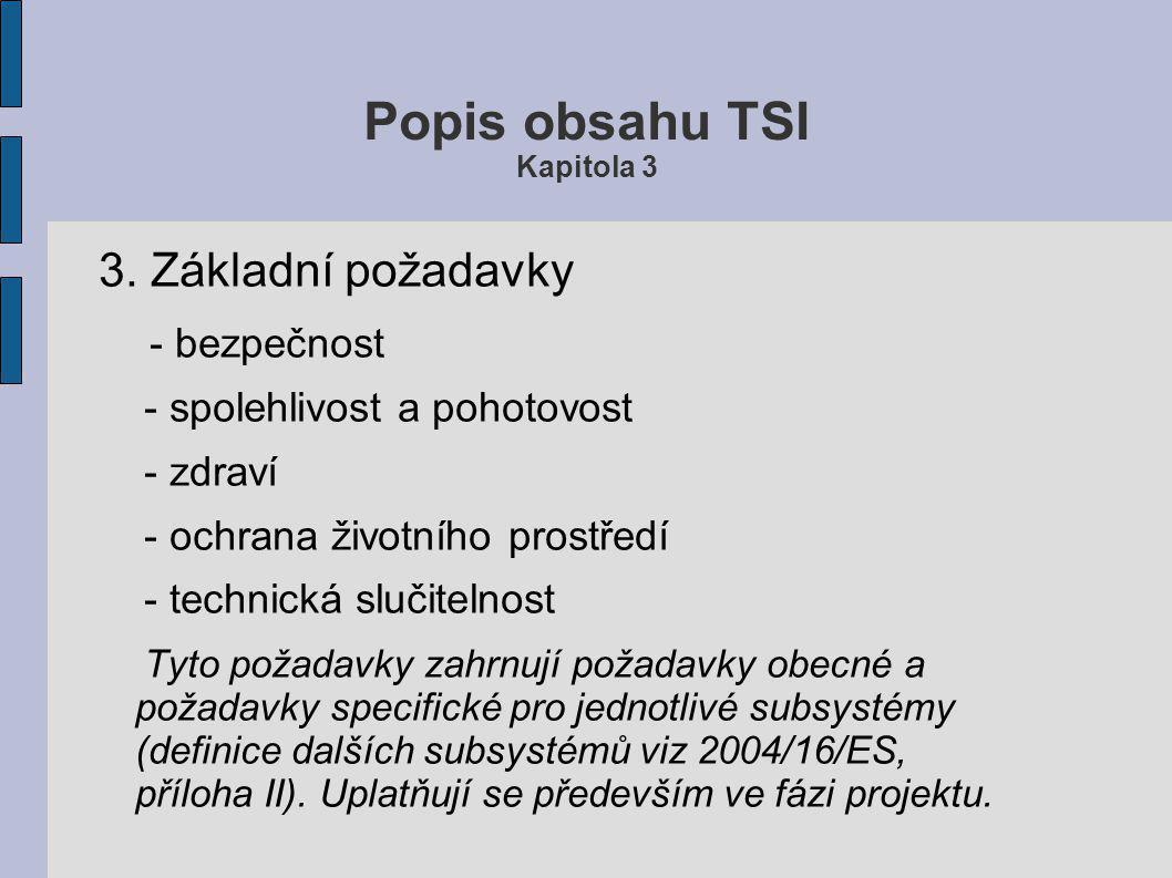 Popis obsahu TSI Kapitola 3 3.