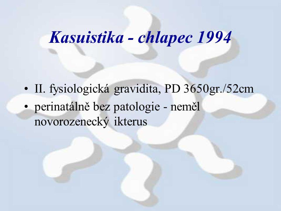 Kasuistika - chlapec 1994 II.