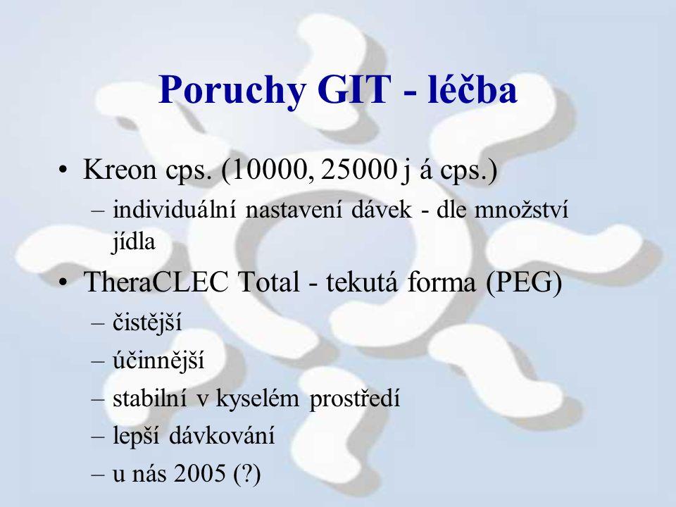 Poruchy GIT - léčba Kreon cps.