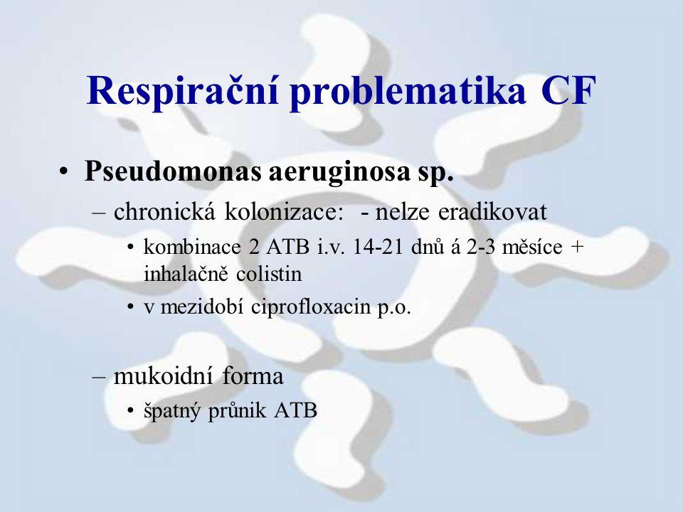 Respirační problematika CF Pseudomonas aeruginosa sp.