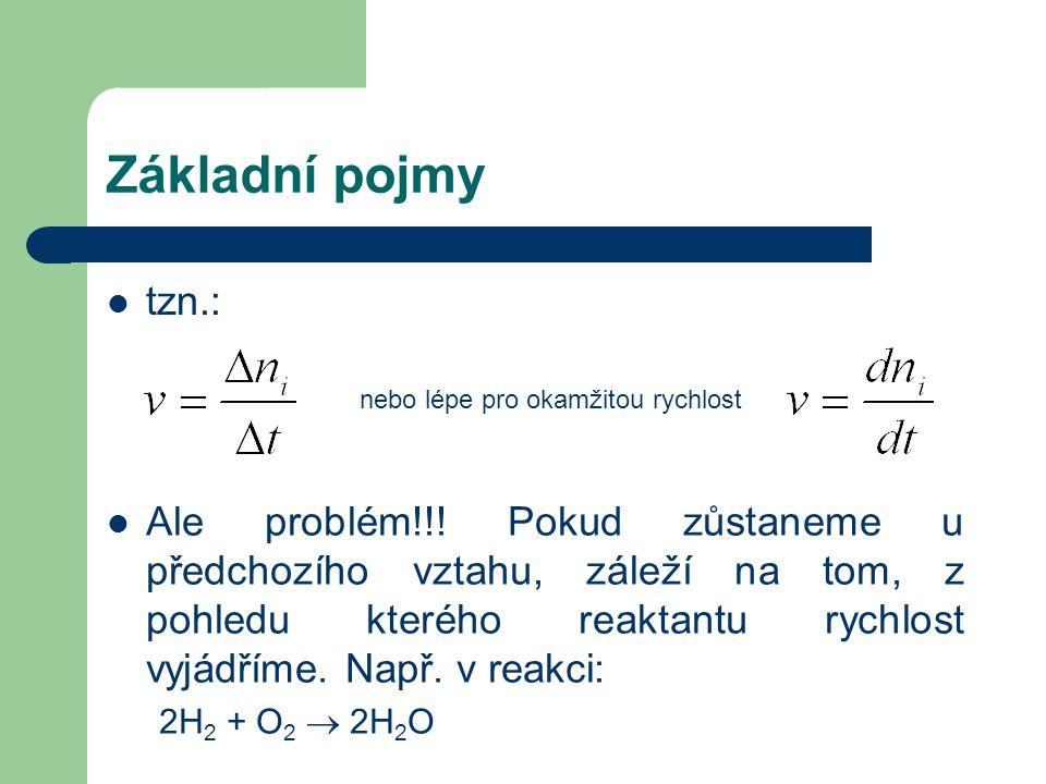 Základní pojmy tzn.: nebo lépe pro okamžitou rychlost Ale problém!!.