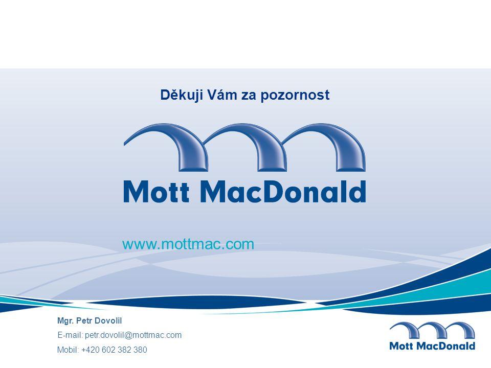 www.mottmac.com Děkuji Vám za pozornost Mgr. Petr Dovolil E-mail: petr.dovolil@mottmac.com Mobil: +420 602 382 380