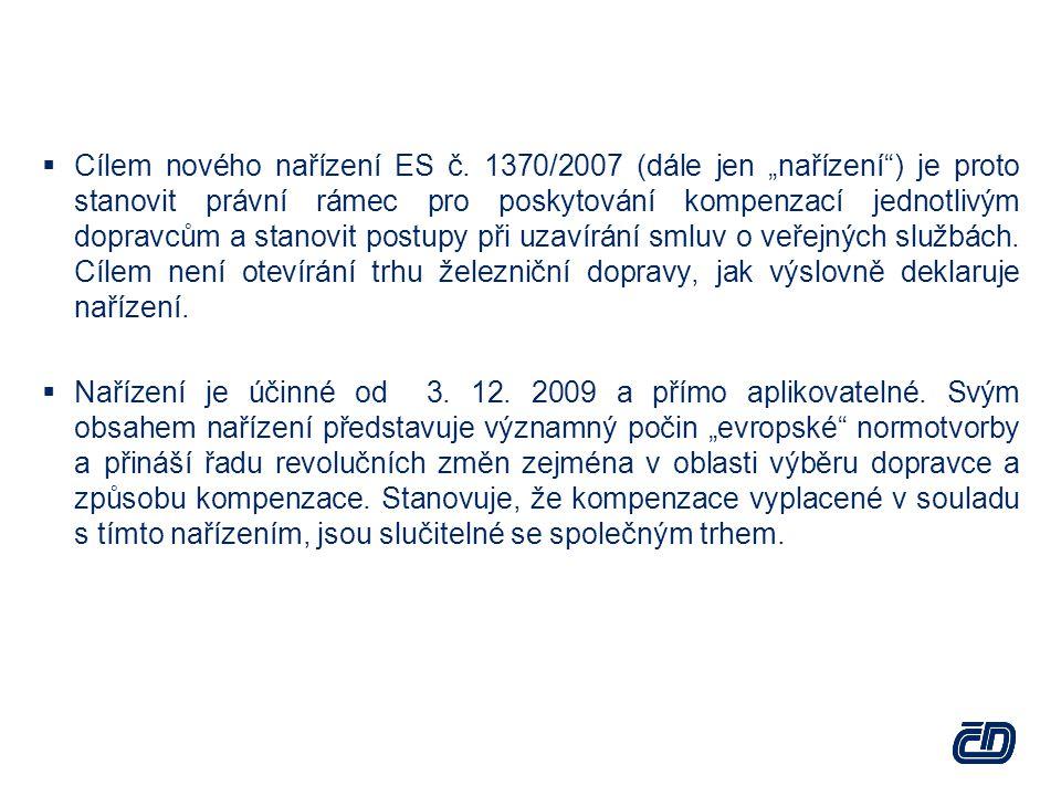  Cílem nového nařízení ES č.