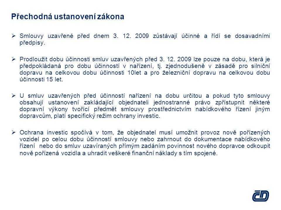 Přechodná ustanovení zákona  Smlouvy uzavřené před dnem 3.