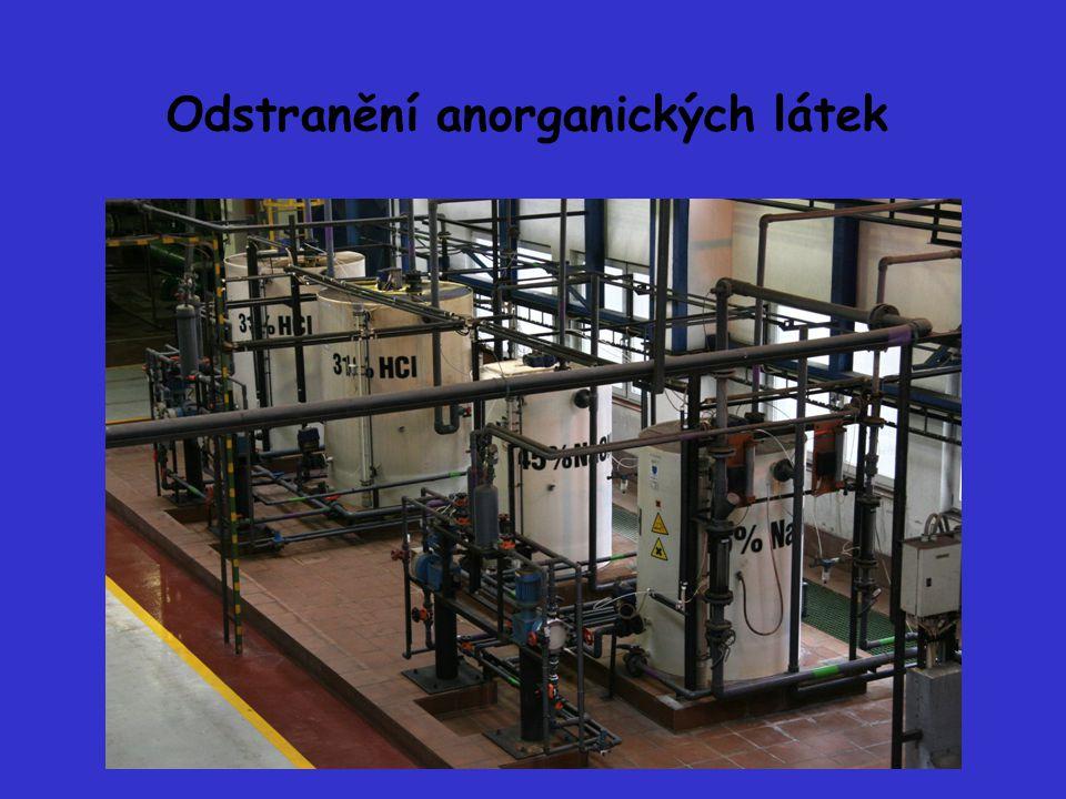 Odstranění anorganických látek