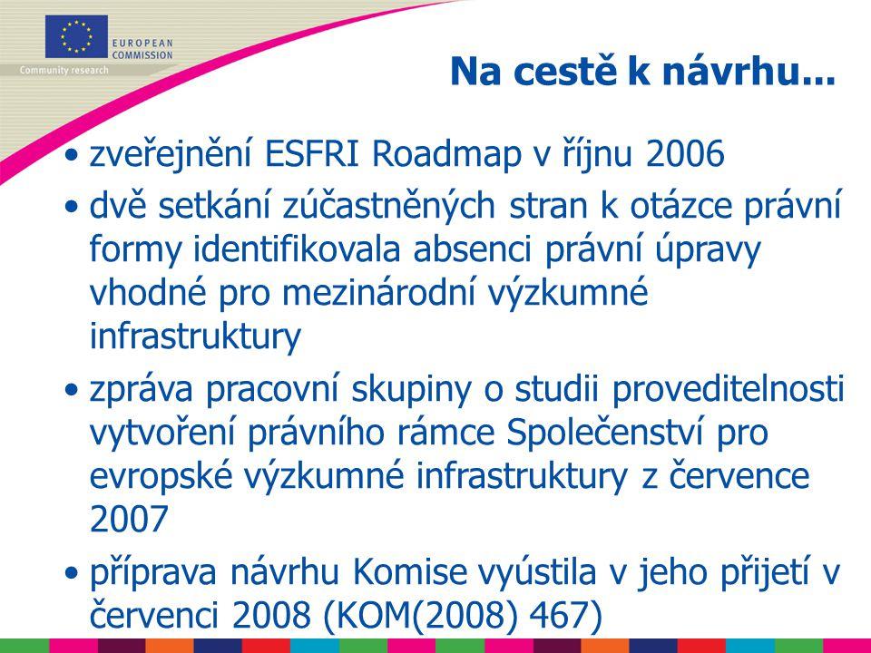 probíhající diskuse v Radě jednání v EP (konzultace) očekávané přijetí v polovině českého předsednictví následující implementační kroky Komise Na cestě k nařízení...