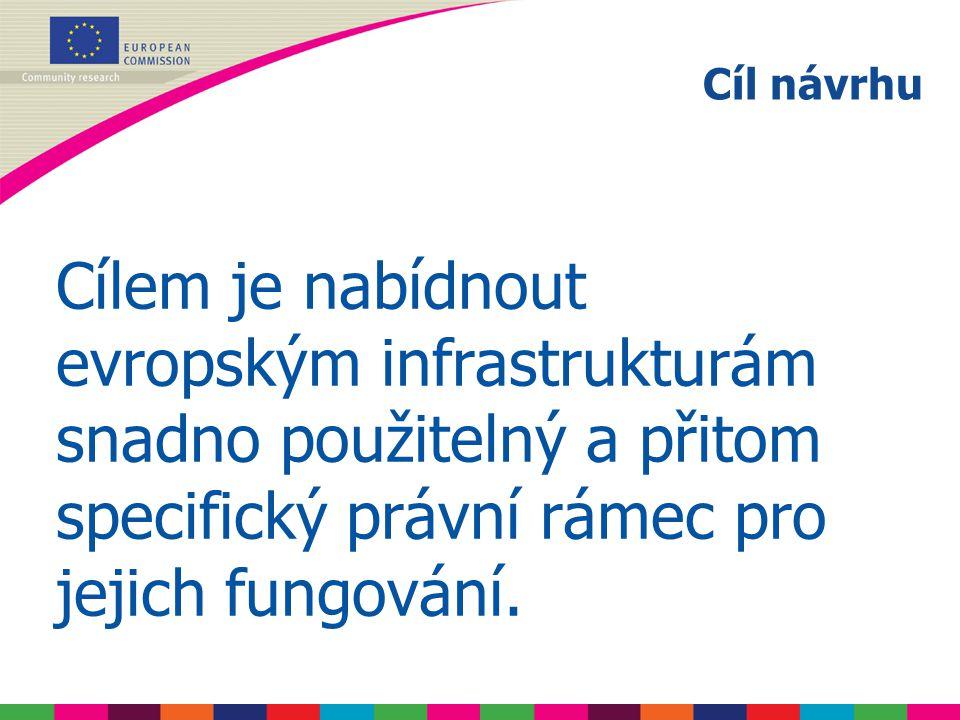 Cílem je nabídnout evropským infrastrukturám snadno použitelný a přitom specifický právní rámec pro jejich fungování.