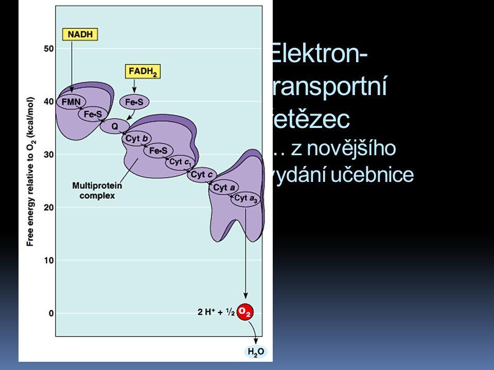 Elektron- transportní řetězec … z novějšího vydání učebnice