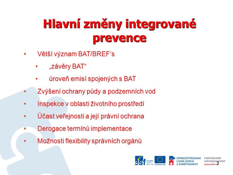Aktuální stav transpozice Zákon 201/2012 Sb., o ochraně ovzduší, nabyl účinnost 1.
