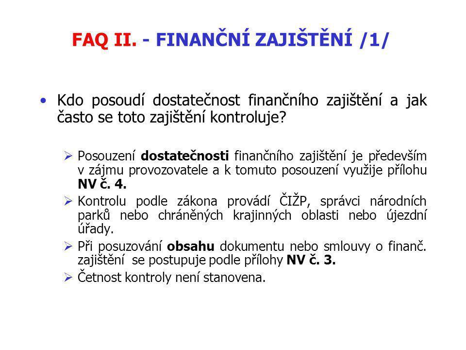 FAQ II.