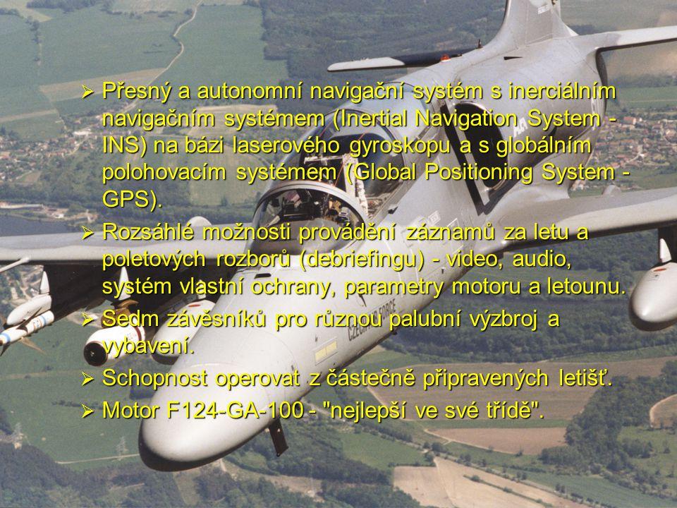  Přesný a autonomní navigační systém s inerciálním navigačním systémem (Inertial Navigation System - INS) na bázi laserového gyroskopu a s globálním
