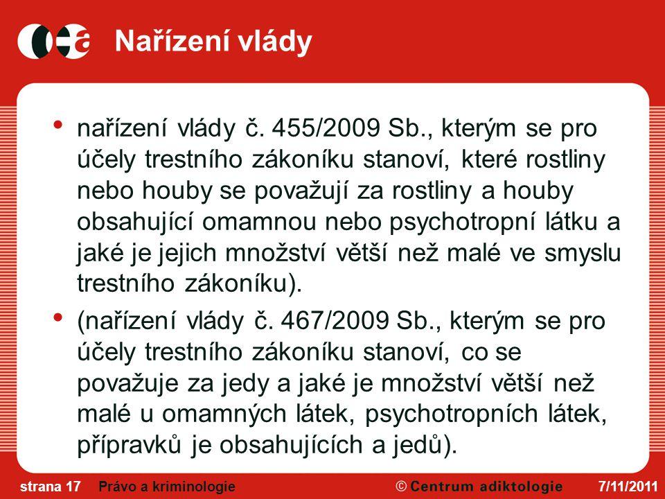 Nařízení vlády nařízení vlády č.