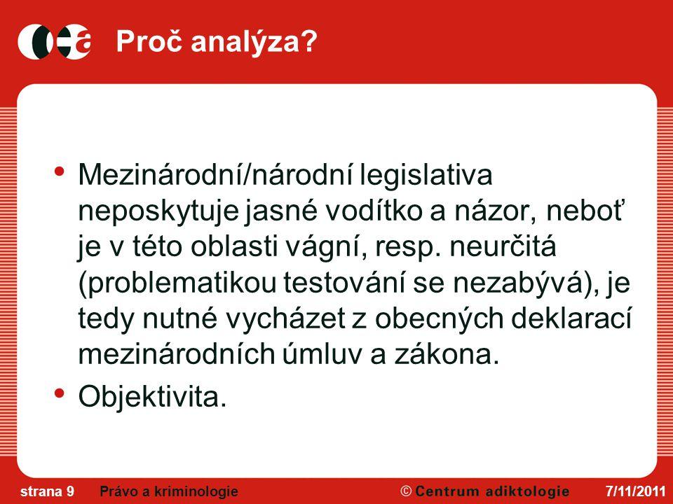 Proč analýza.