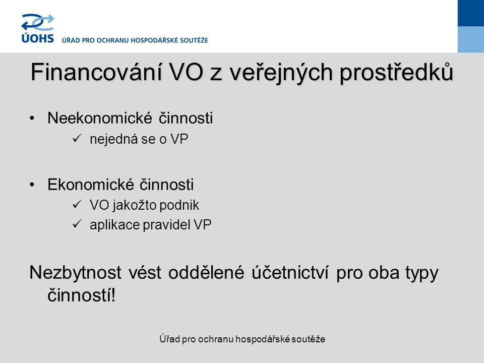 Zabránění poskytnutí nepřímé podpory podnikům Smluvní výzkum (čl.