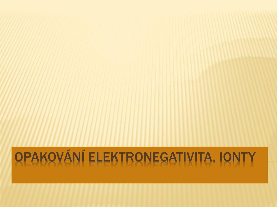  Ionty jsou elektricky nabité částice. Kationty jsou kladně nabité ionty.