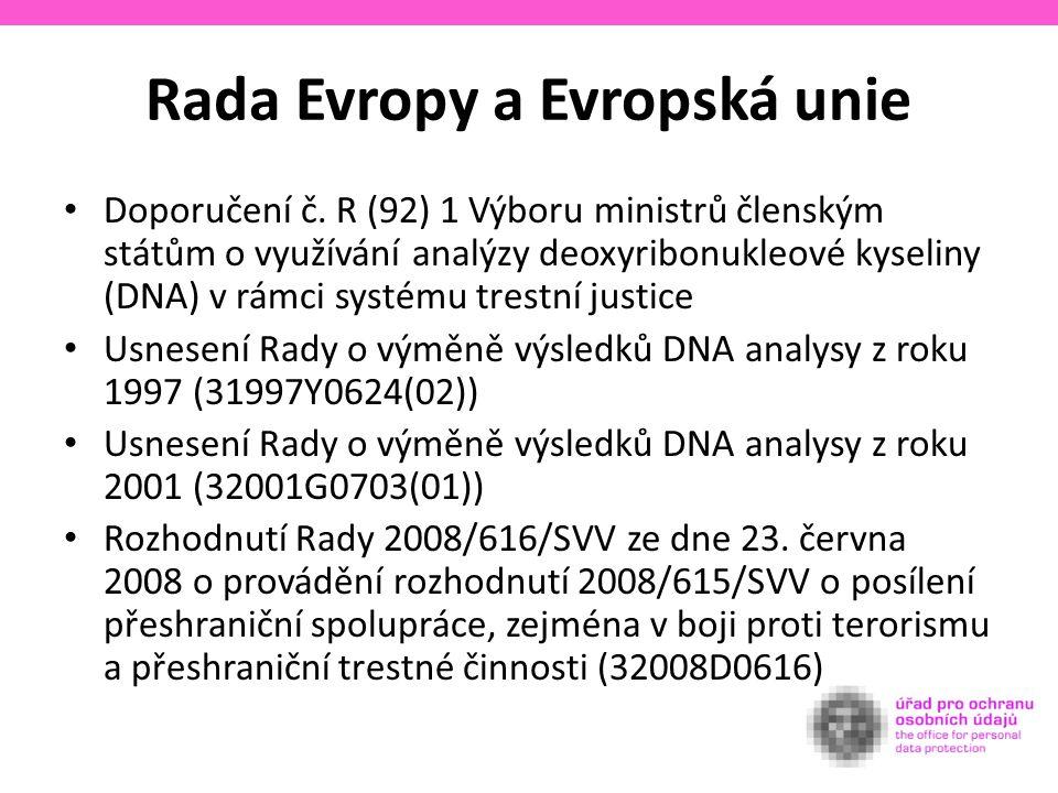 Rada Evropy a Evropská unie Doporučení č.