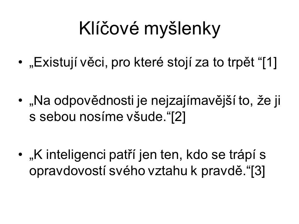 Citace [1] HAVEL, Václav.Moc bezmocných. Praha: Lidové noviny, 1990.