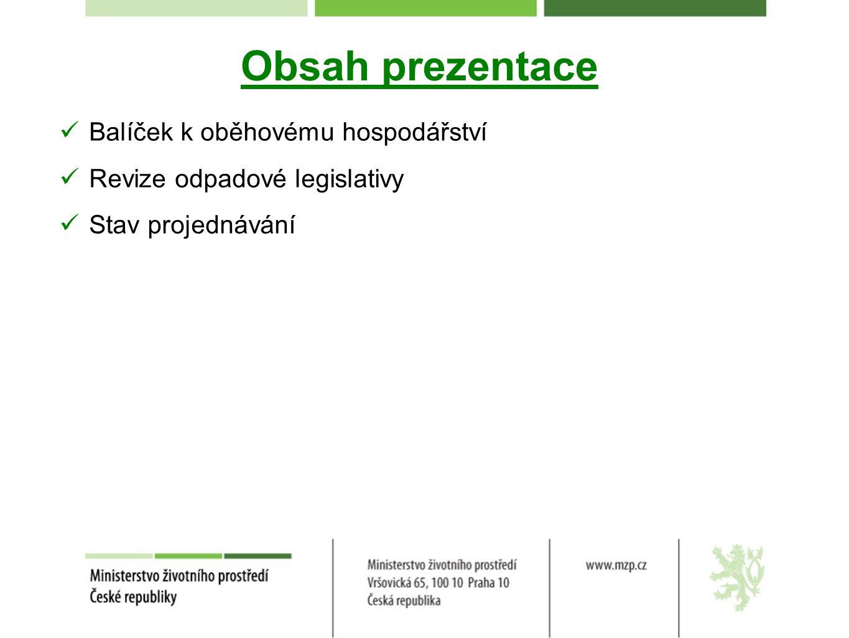 Stav projednávání - EU Balíček zveřejněn 2.7.2014.