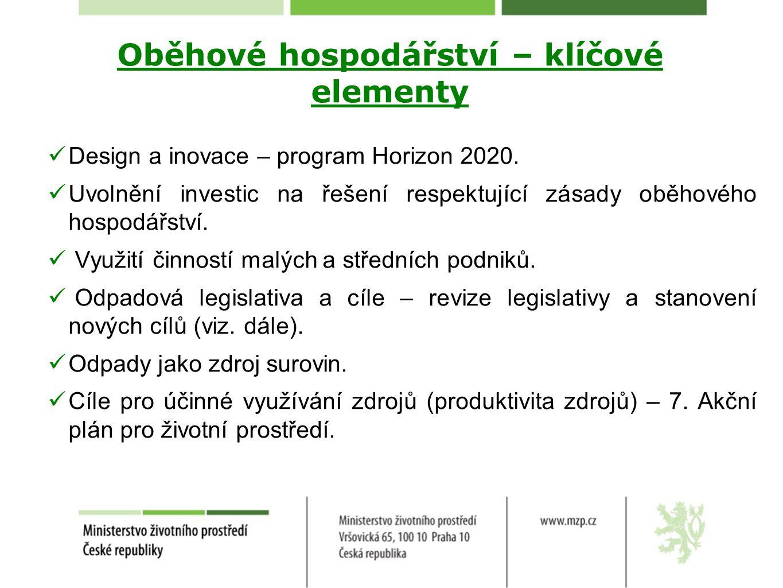 Oběhové hospodářství – odpadová legislativa Modernizace politiky nakládání s odpady a jejích cílů: odpad jako zdroj.