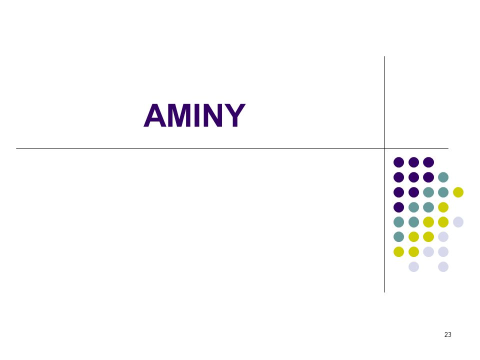 24 Aminy amoniakprimární amin sekundární amin terciární aminkvartérní amoniová sůl