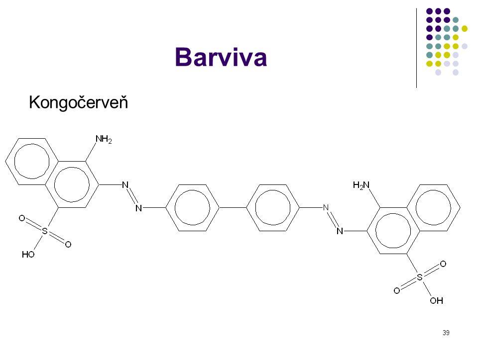 40 Význam 1)Methylamin Vzniká rozkladem bílkovin, nepříjemný zápach 2) Anilin Bezb (l), vzniká redukcí nitrobenzenu