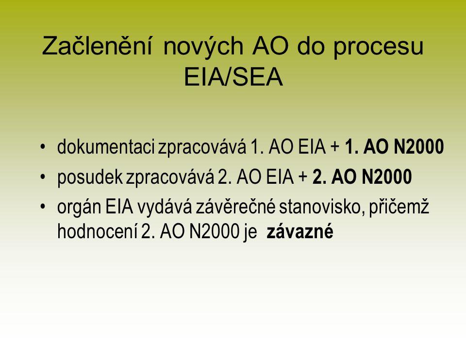 Začlenění nových AO do procesu EIA/SEA dokumentaci zpracovává 1.