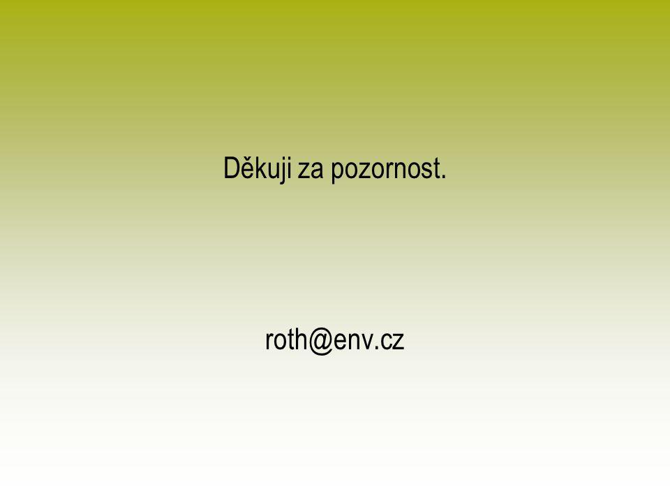 Děkuji za pozornost. roth@env.cz