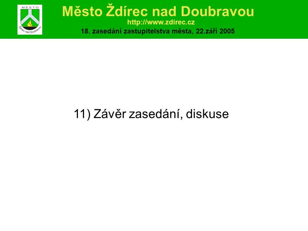 11) Závěr zasedání, diskuse Město Ždírec nad Doubravou http://www.zdirec.cz 18.
