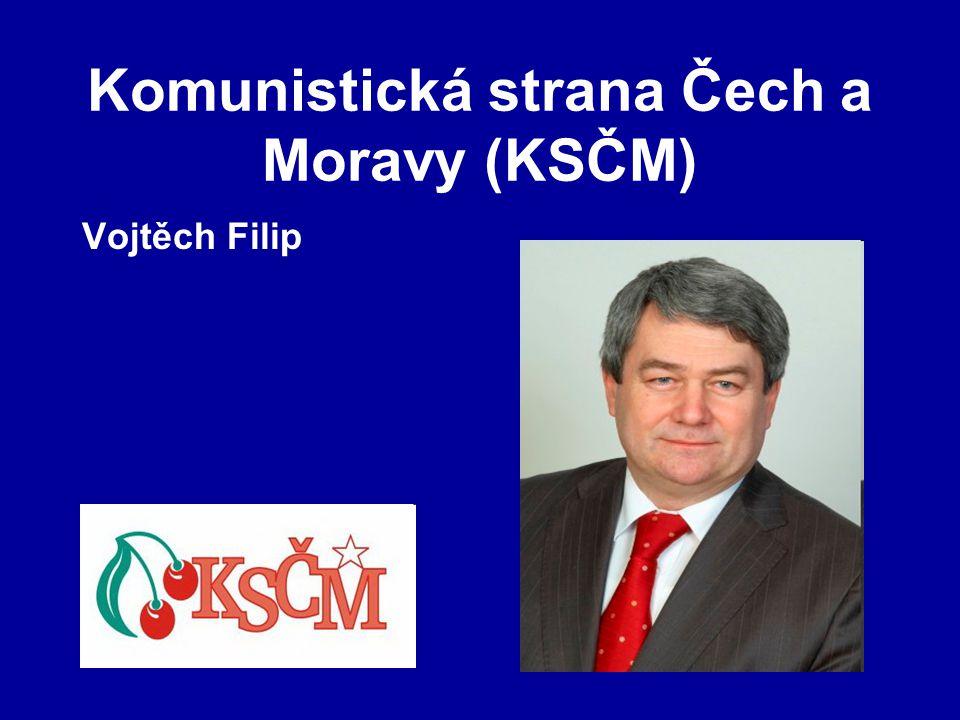 Komunistická strana Čech a Moravy (KSČM) Vojtěch Filip