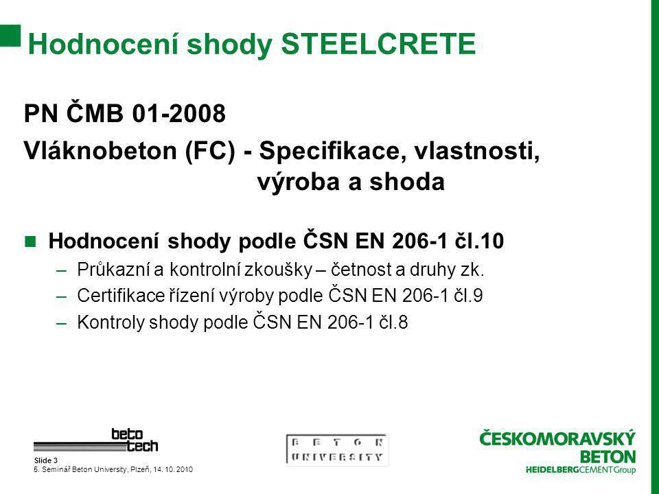 Slide 3 5.Seminář Beton University, Plzeň, 14. 10.