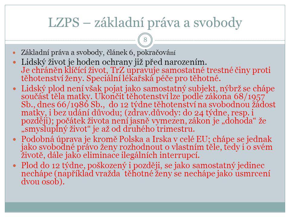 LZPS – hlava třetí, práva národnostních a etnických menšin 19 Čl.