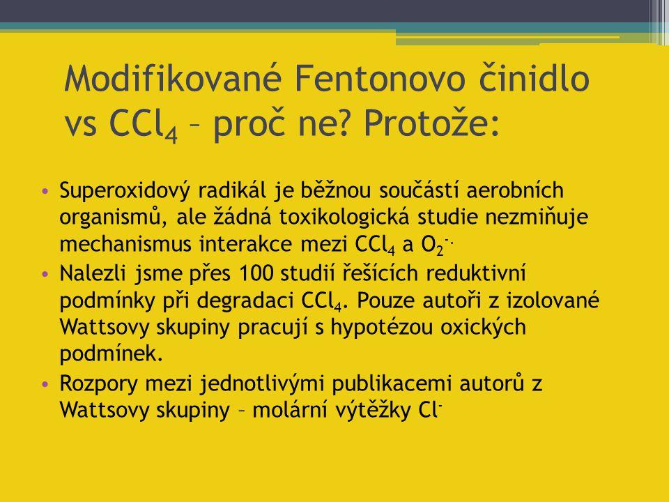 Superoxidový radikál je běžnou součástí aerobních organismů, ale žádná toxikologická studie nezmiňuje mechanismus interakce mezi CCl 4 a O 2 -. Nalezl