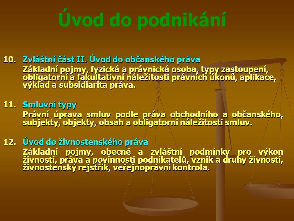 Úvod do podnikání Spory s mezinárodním prvkem POZOR.
