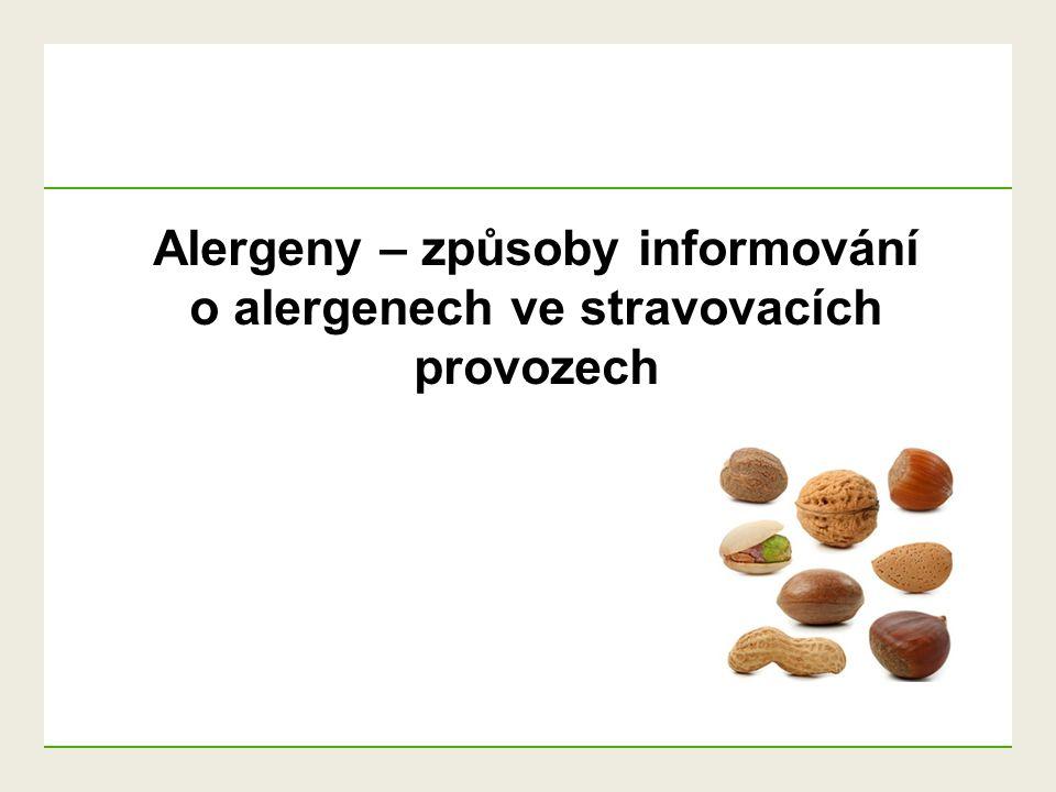 """Informace o alergenech – příklady z SK POZOR  výčet alergenů bez uvození slovem """"obsahuje"""