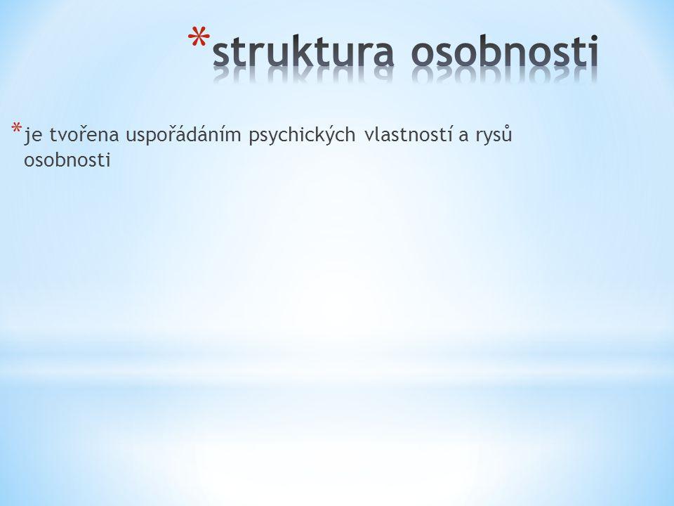 * je tvořena uspořádáním psychických vlastností a rysů osobnosti