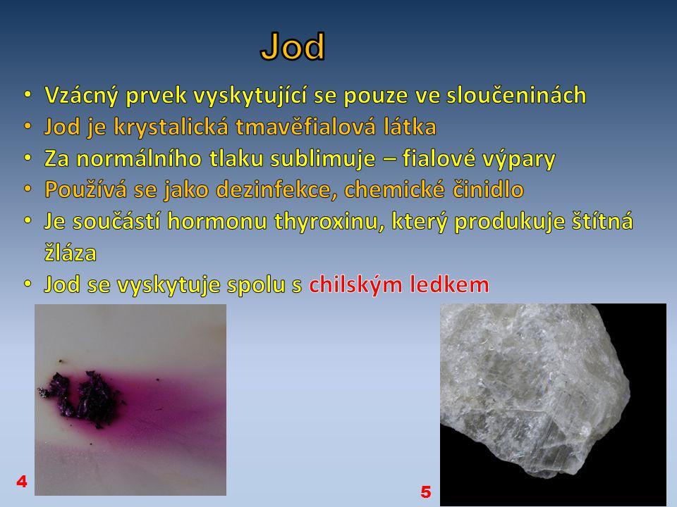 minerálhalogen kazivec Chlorid sodný ledek Teplota varu Bromu.