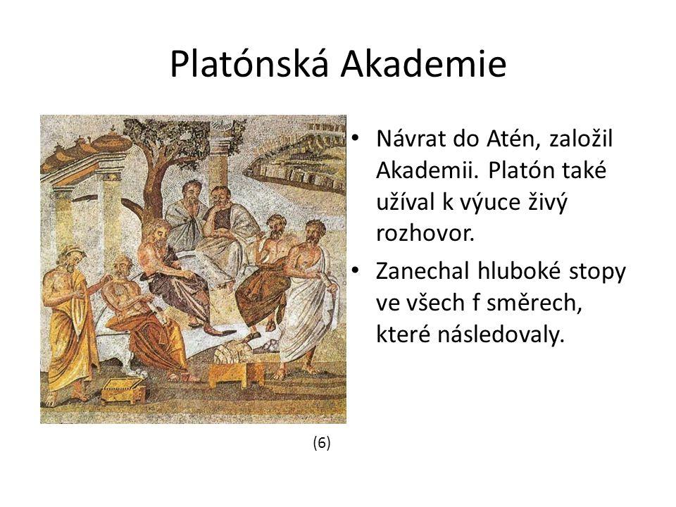 Platónská Akademie Návrat do Atén, založil Akademii.