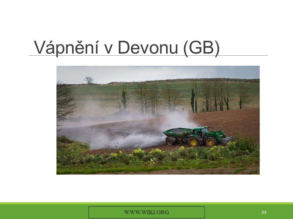 Vápnění v Devonu (GB) WWW.WIKI.ORG 23