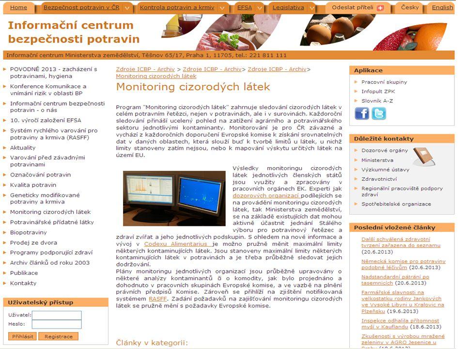 Evropský úřad pro bezpečnost potravin Úkoly EFSA vědecké poradenství sběr dat a informací komunikace o riziku Základní principy vědecká excelence nezávislost transparentnost