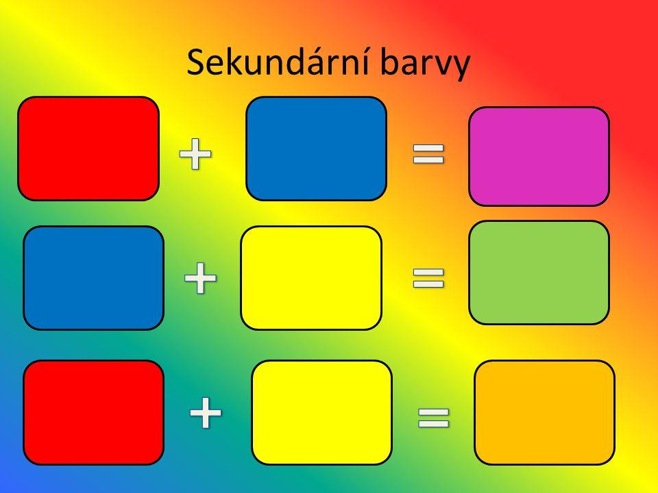 Sekundární barvy