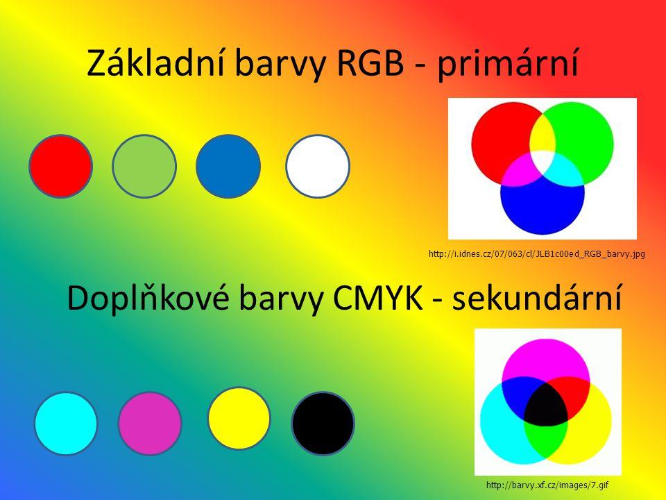 Vychází z dělení barev na: primární sekundární komplementární