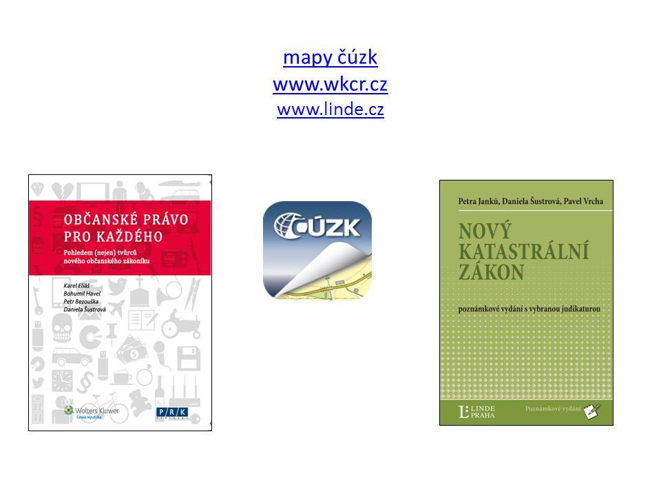mapy čúzk www.wkcr.cz www.linde.cz