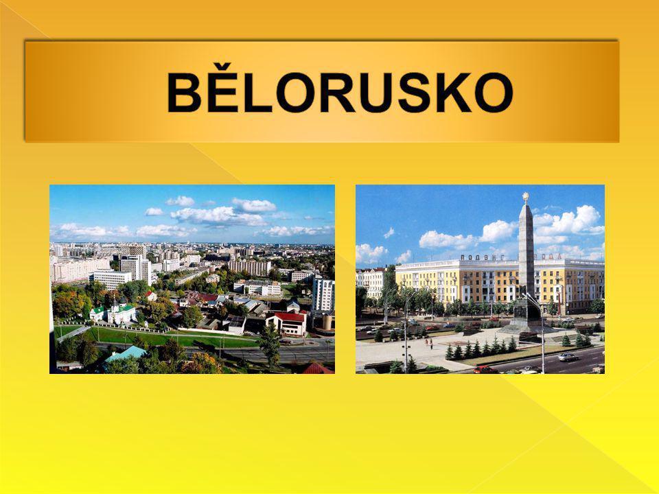  Hlavní město: Minsk  Rozloha: 207 600 km 2  Počet obyvatel: 9 685 768  Jazyk: běloruština, ruština  Časové pásmo: +1 hodina k České republice  Státní zřízení: republika  Měna: běloruský rubl  Národnosti: Bělorusové, Rusové, Poláci, Ukrajinci a ostatní  Náboženství: pravoslavní, uniaté, římští katolíci