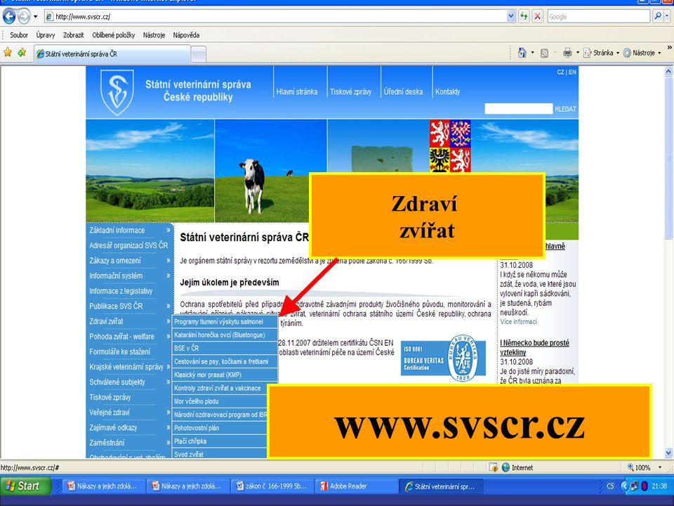 25 Zdraví zvířat www.svscr.cz