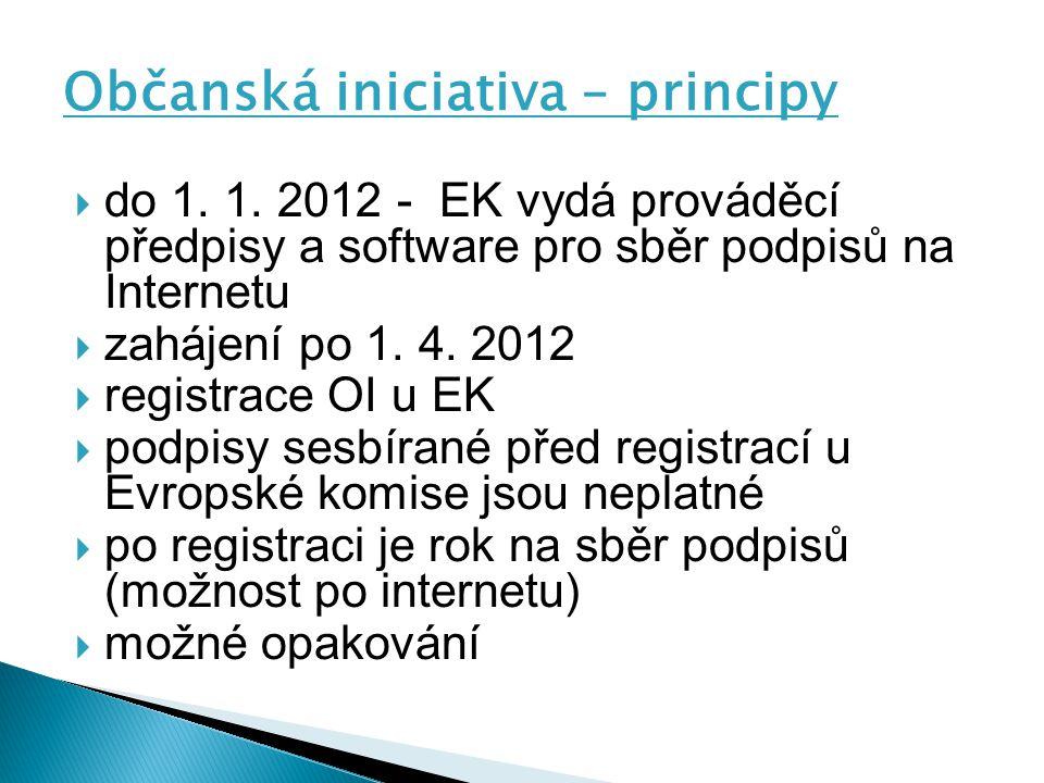Občanská iniciativa – principy  do 1.1.