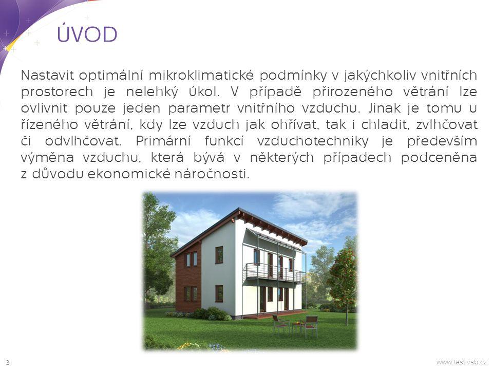 3 ÚVOD www.fast.vsb.cz Nastavit optimální mikroklimatické podmínky v jakýchkoliv vnitřních prostorech je nelehký úkol.