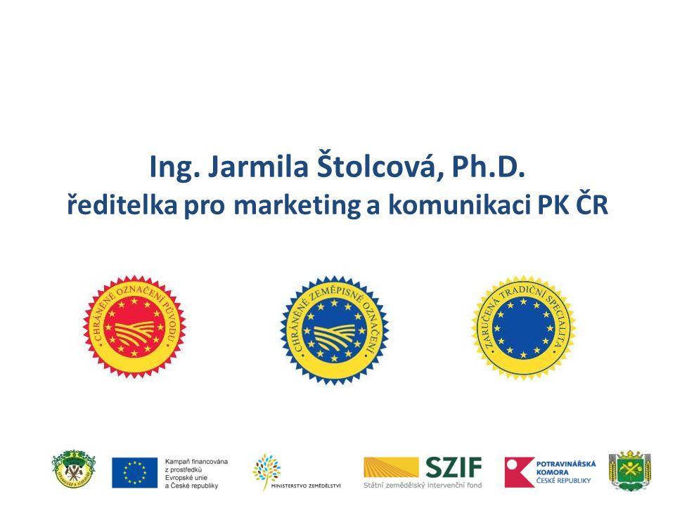 Ing. Jarmila Štolcová, Ph.D. ředitelka pro marketing a komunikaci PK ČR