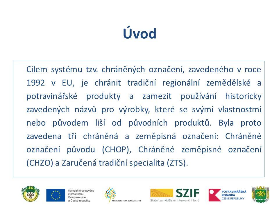 Cílem systému tzv. chráněných označení, zavedeného v roce 1992 v EU, je chránit tradiční regionální zemědělské a potravinářské produkty a zamezit použ